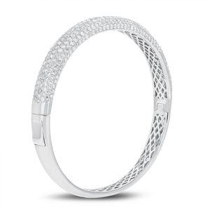 18K White Gold Diamond Bangle, 5.51 Carats