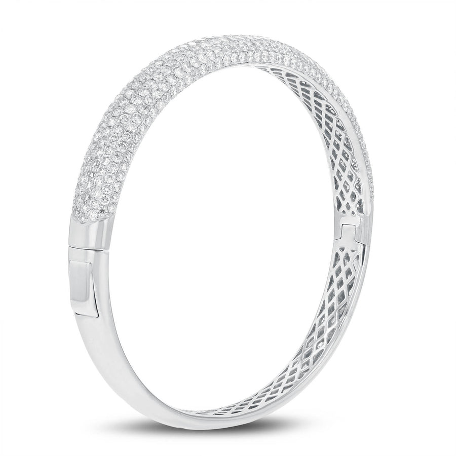 Seven Row Diamond Bangle - R&R Jewelers
