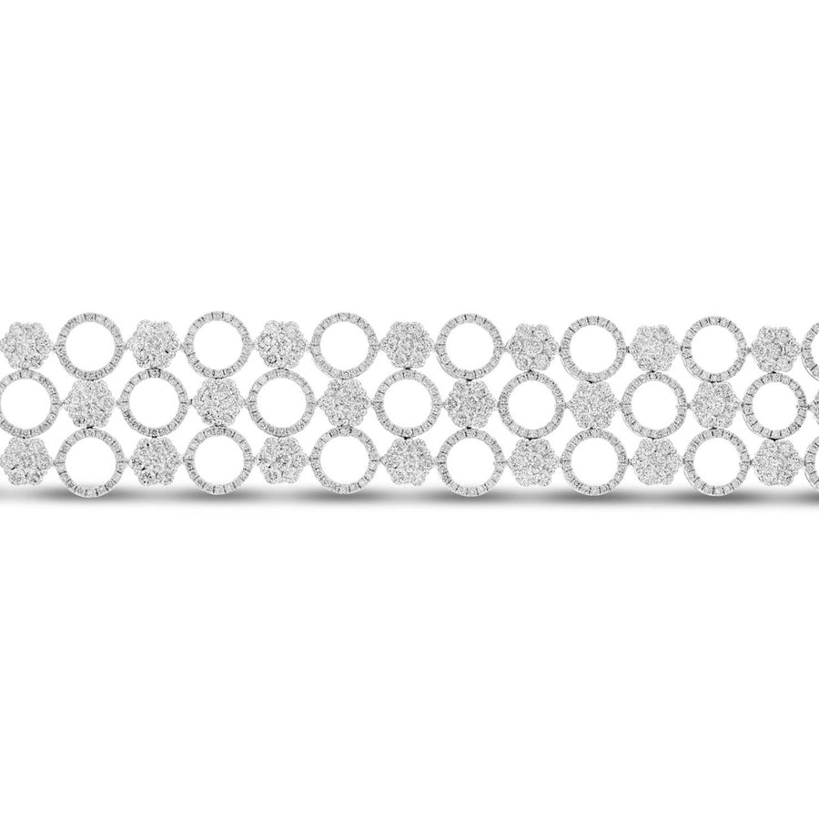 18K White Gold Diamond Bracelet, 15.13 Carats