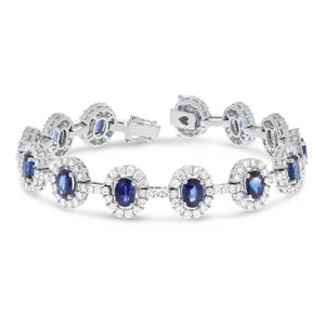 Diamond and Oval Sapphire Bracelet - R&R Jewelers