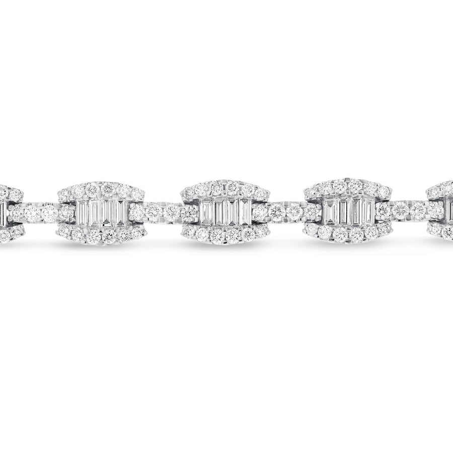 Baguette and Round Diamond Bracelet - R&R Jewelers