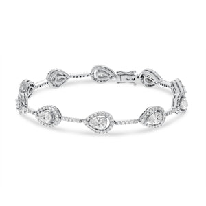 18K White Gold Diamond Bracelet, 4.90 Carats - R&R Jewelers