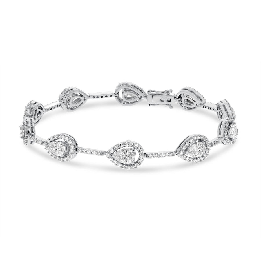 Pear Shape Diamond Station Bracelet - R&R Jewelers