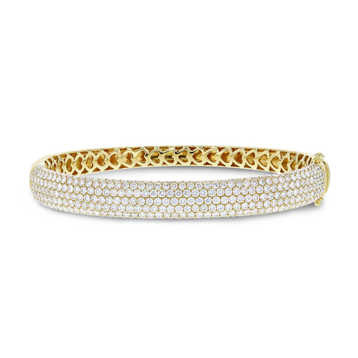 18K Yellow Gold Diamond Bangle, 5.64 Carats