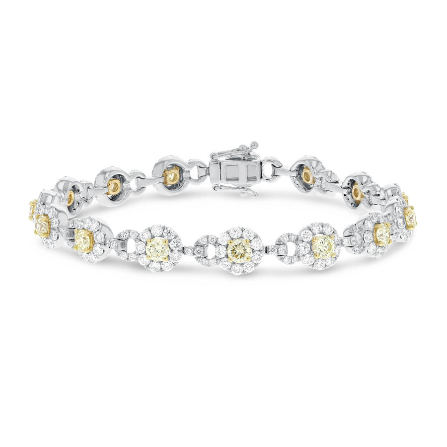 Yellow Diamond Link Bracelet - R&R Jewelers