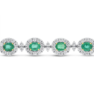 18K White Gold Diamond and Gemstone Bracelet, 9.98 Carats - R&R Jewelers