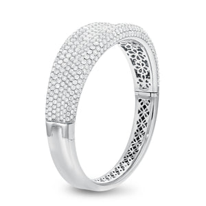 18K White Gold Diamond Bangle, 13.24 Carats - R&R Jewelers