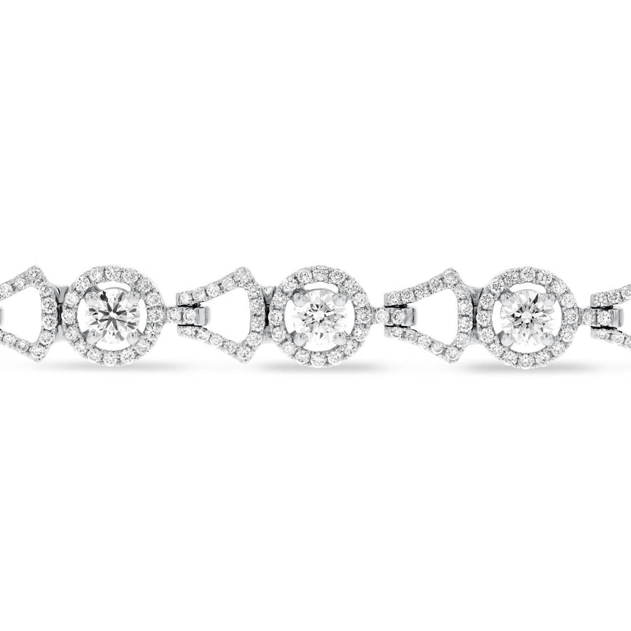 18K White Gold Diamond Bracelet, 4.13 Carats - R&R Jewelers