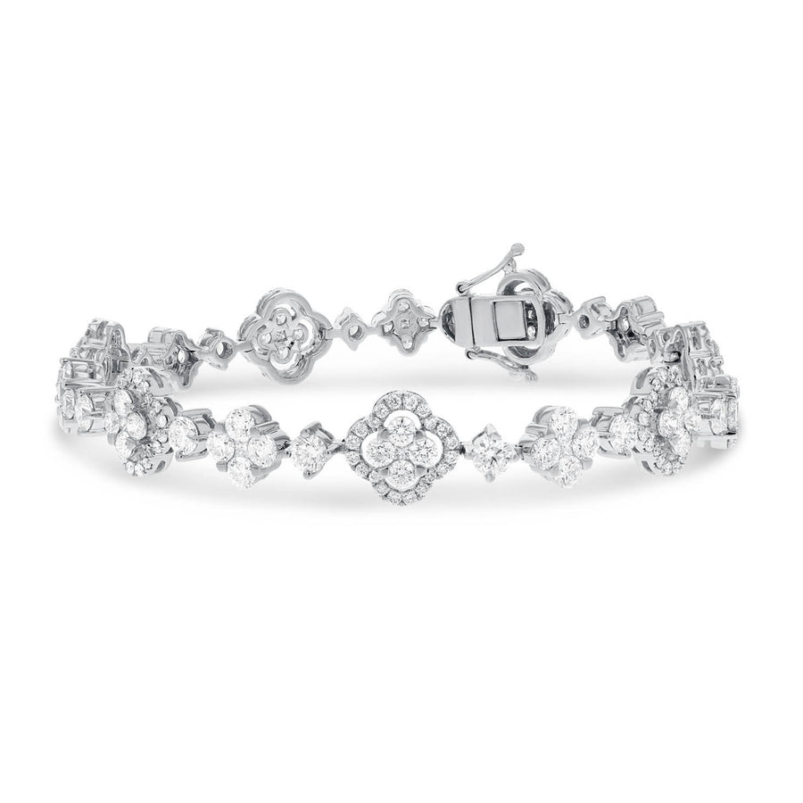 18K White Gold Diamond Bracelet, 7.93 Carats - R&R Jewelers