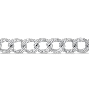18K White Gold Diamond Bracelet, 15.37 Carats - R&R Jewelers