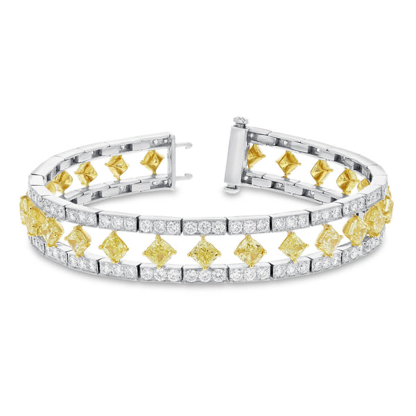 Princess Cut Yellow Diamond Bracelet - R&R Jewelers