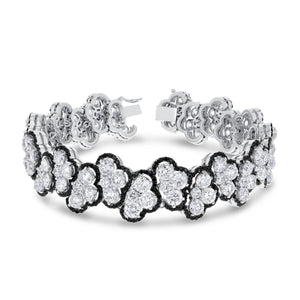 18K White Gold Diamond Bracelet, 21.31 Carats - R&R Jewelers
