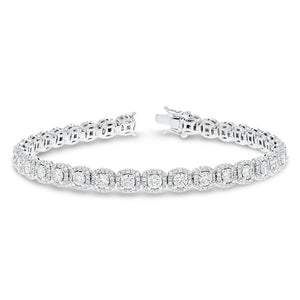 Diamond Cluster Halo Bracelet - R&R Jewelers