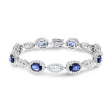 Oval Sapphire and Diamond Bracelet - R&R Jewelers