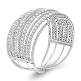 Nine Row Diamond Bangle - R&R Jewelers