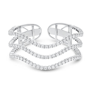18K White Gold Diamond Bangle, 10.40 Carats - R&R Jewelers