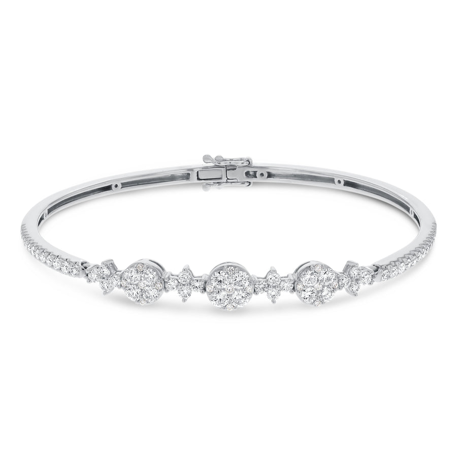 Diamond Cluster Bangle - R&R Jewelers