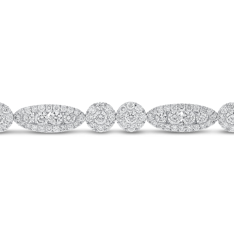 18K White Gold Diamond Bracelet, 5.92 Carats - R&R Jewelers