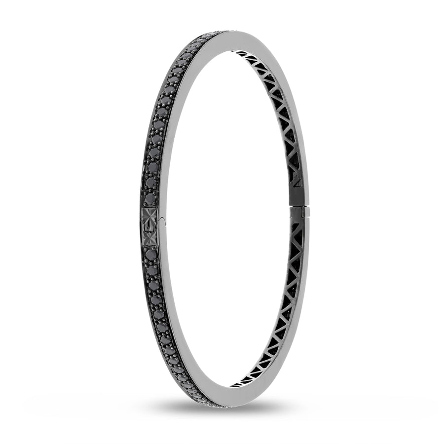 Black Diamond Bangle with Black Rhodium - R&R Jewelers