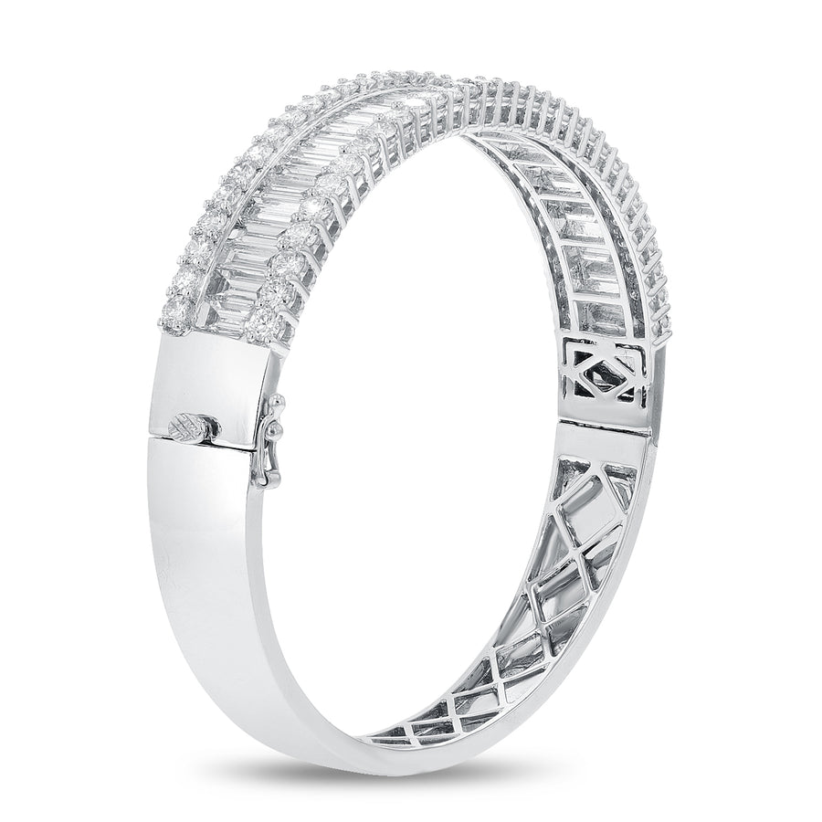 Diamond Baguette Bangle - R&R Jewelers