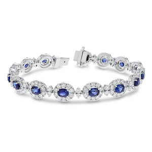 Diamond and Sapphire Bracelet - R&R Jewelers