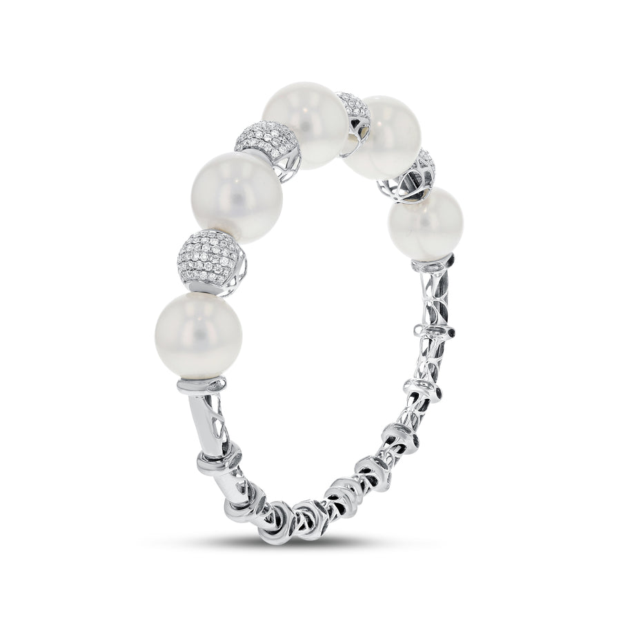 South Sea Pearl and Diamond Cuff - R&R Jewelers