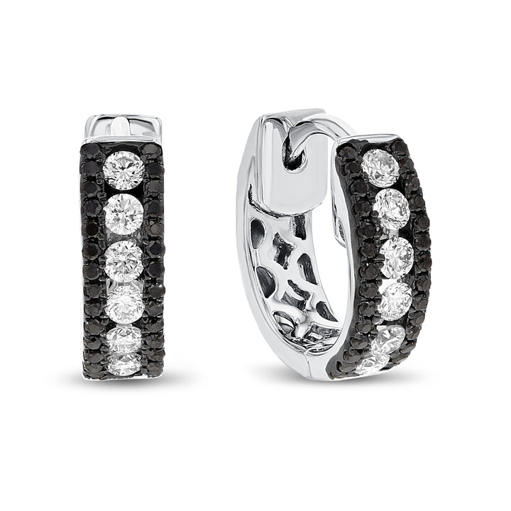 18K White Gold Diamond Earrings, 0.47 Carats