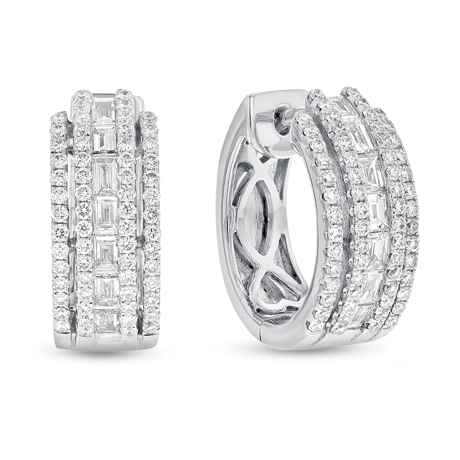 18K White Gold Diamond Earrings, 1.12 Carats - R&R Jewelers