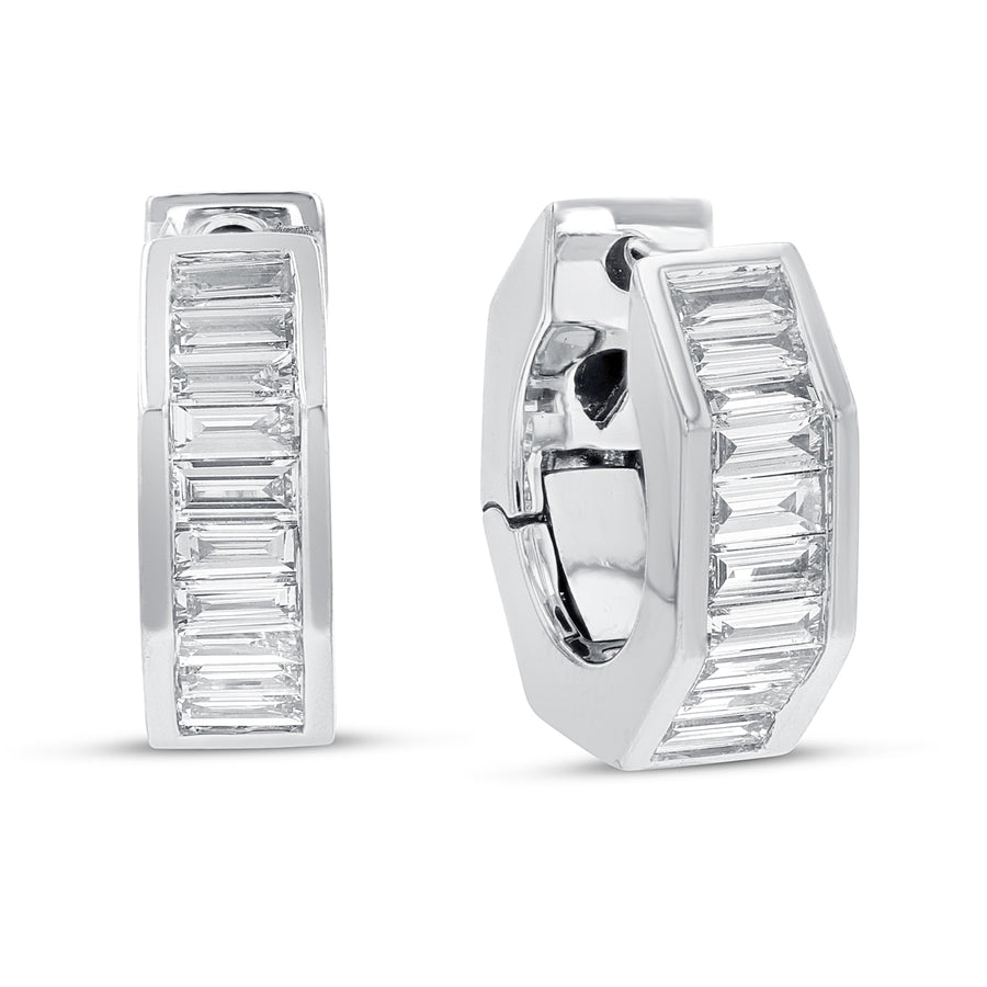 18K White Gold Diamond Earrings, 0.59 Carats - R&R Jewelers