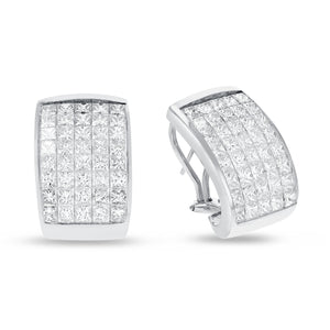 18K White Gold EARRINGS, 9.52 Carats