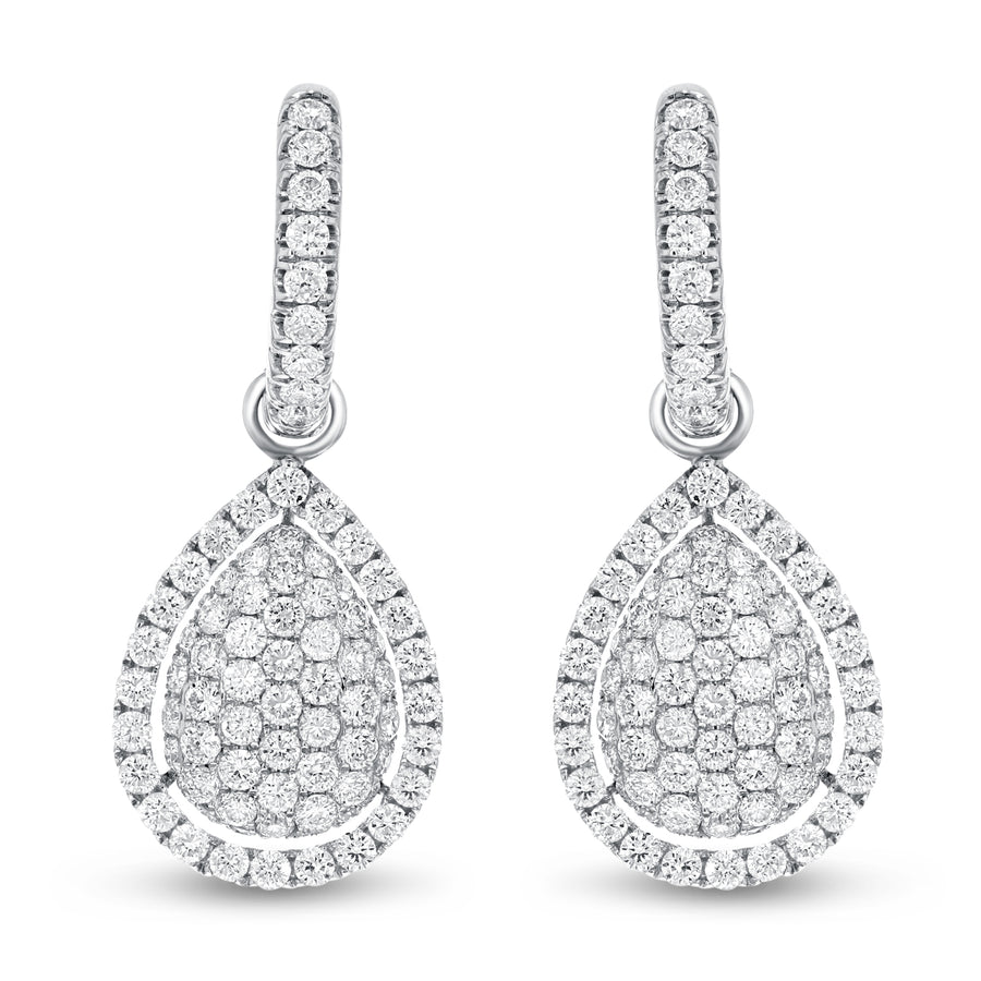 Pear Shape Drop Earrings - R&R Jewelers