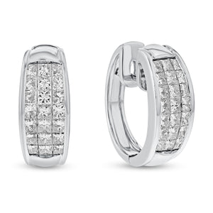 PLAT White Gold EARRINGS, 3.77 Carats