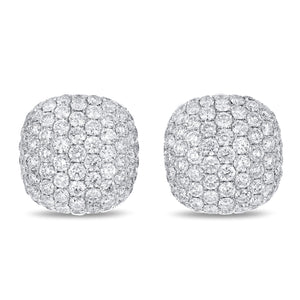 Pavé Diamond Earrings, 3.76 Carats - R&R Jewelers
