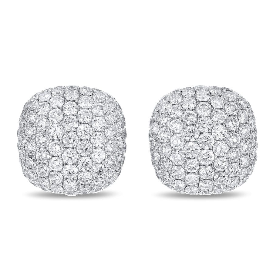 14K White Gold Diamond Earrings, 3.76 Carats - R&R Jewelers