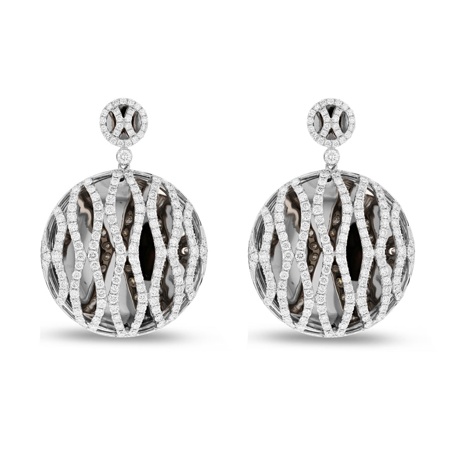 Black Rhodium Diamond Drop Earrings - R&R Jewelers