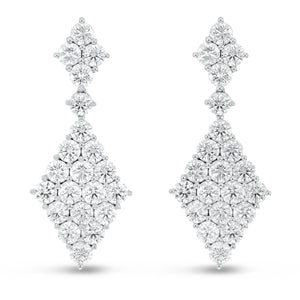 Diamond Kite Shaped Drop Earrings - R&R Jewelers