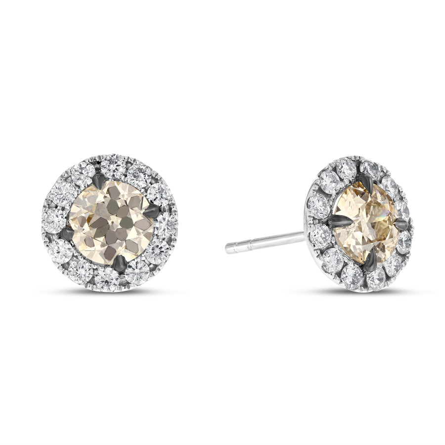 18K White Gold Diamond Earrings, 1.95 Carats - R&R Jewelers