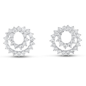 18K White Gold Diamond Earrings, 4.14 Carats - R&R Jewelers