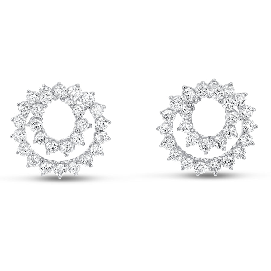 Diamond Swirl Earrings - R&R Jewelers