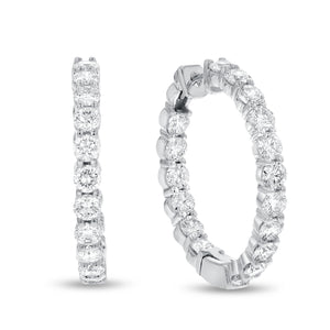 Inside Out Diamond Hoop Earrings, 5.81 Carats - R&R Jewelers