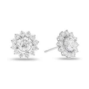 Diamond Halo Stud Earrings - R&R Jewelers