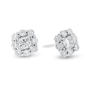 18K White Gold Diamond Earrings, 1.77 Carats - R&R Jewelers