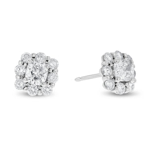 18K White Gold Diamond Earrings, 1.82 Carats - R&R Jewelers