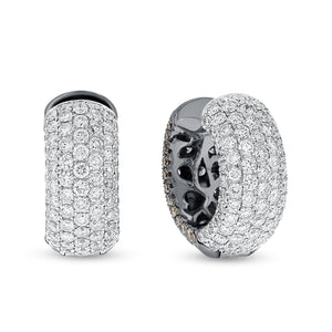 Diamond Pavé Huggie Earrings - R&R Jewelers
