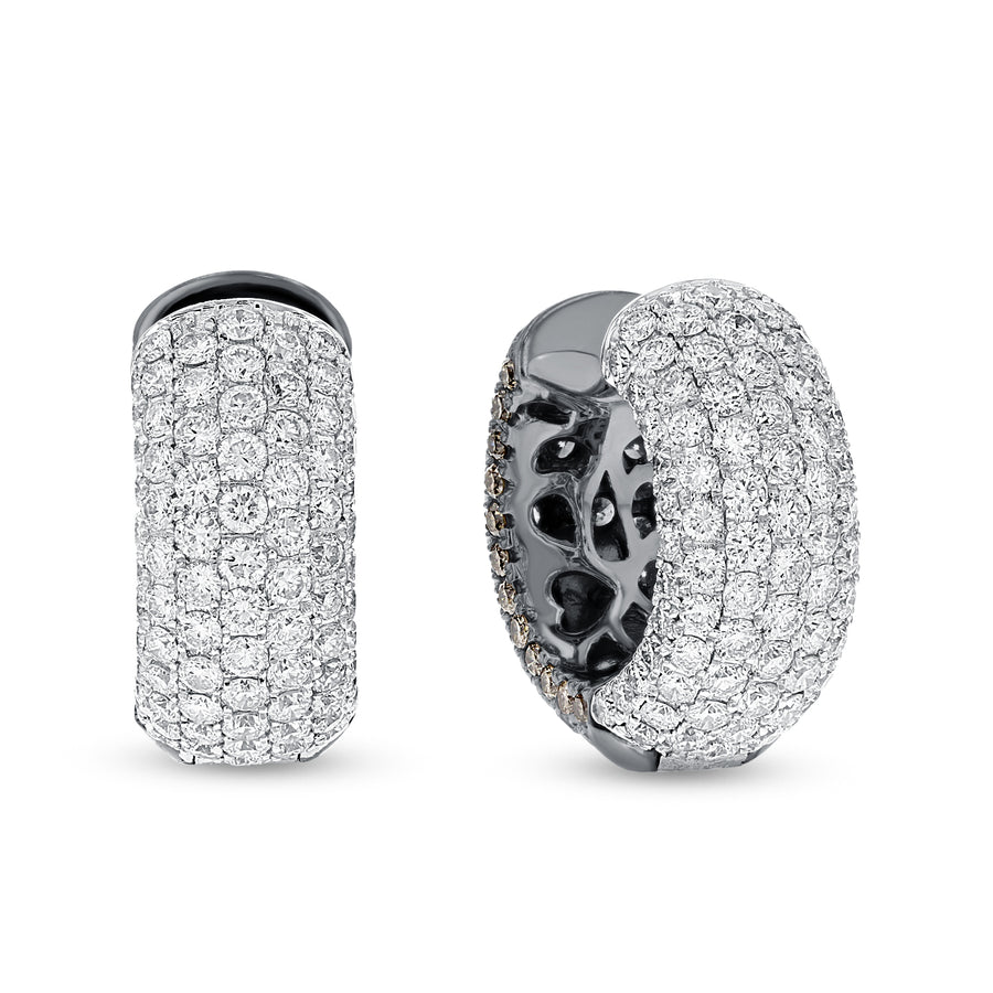 18K White Gold Diamond Earrings, 5.76 Carats