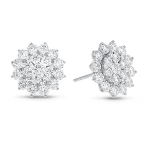 Sunshine Diamond Cluster Stud Earrings - R&R Jewelers