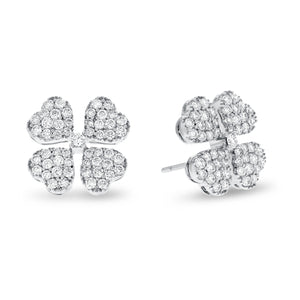 18K White Gold Diamond Earrings, 1.01 Carats - R&R Jewelers