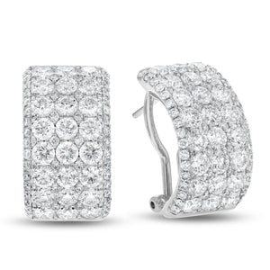 18K White Gold Diamond Earrings, 5.01 Carats