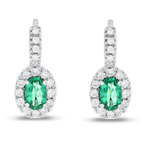 18K White Gold Diamond and Gem Earrings, 1.36 Carats - R&R Jewelers