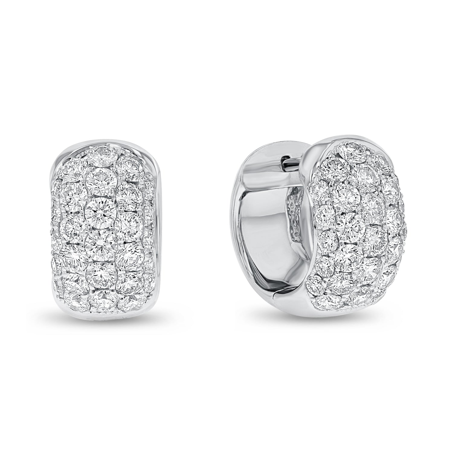 18K White Gold Diamond Earrings, 2.12 Carats